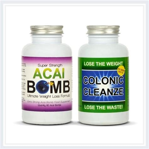 Slim Bomb Detox Tablet Review by Acai Bomb With Acai Berry Green Tea Detox Cleanse