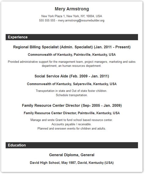 formatting resume typical resume format recentresumes