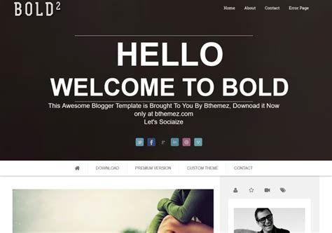 bold modern parallax blogger template blogspot templates
