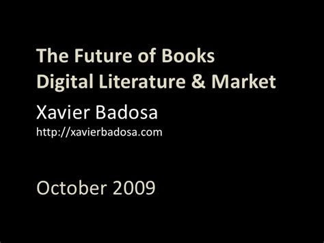after the digital futures books the future of books digital literature market