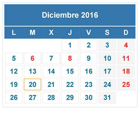 En El Calendario Calendario Fiscal Diciembre 2016 Auditoria