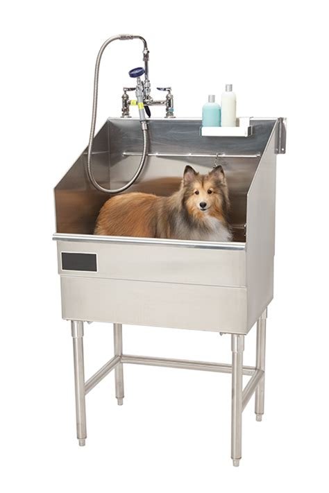 wash tubs for dogs washing in multi family housing construction specifier