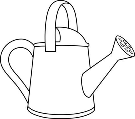 Watering Can Pouring Water Drawing Pictures To Pin On Watering Can Coloring Page