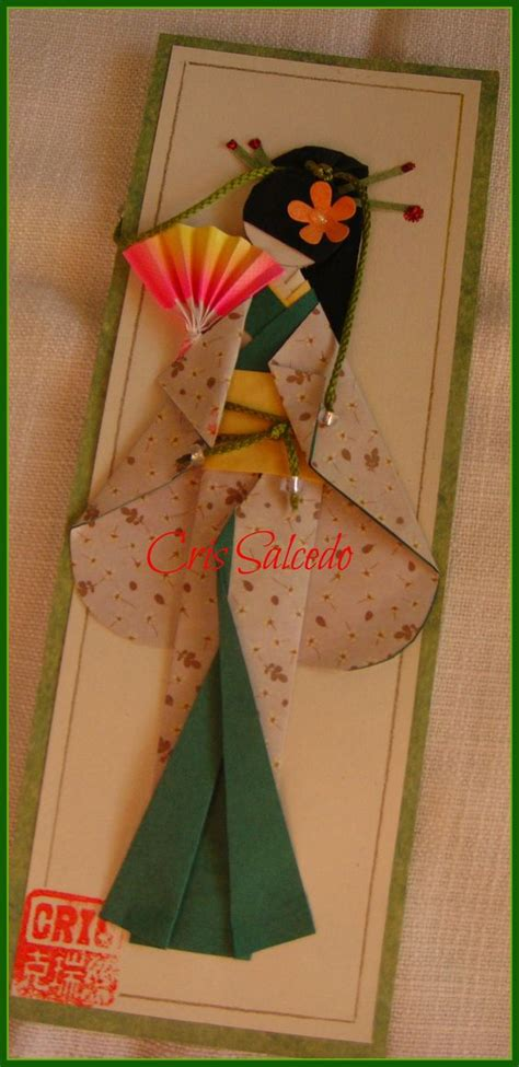 Origami Geisha - geisha bosque paper dolls geishas and