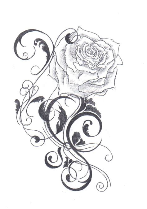 love heart and roses tattoos line drawing cliparts co