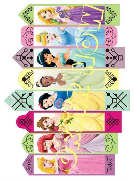 printable bookmarks disney 5 best images of printable disney princess bookmarks
