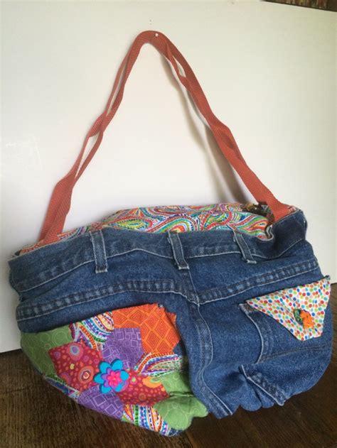Handmade Denim Handbags - repurposed denim shoulder bag sewing by lydia handmade