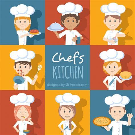 caratteri diversi set di caratteri chef con accessori diversi scaricare