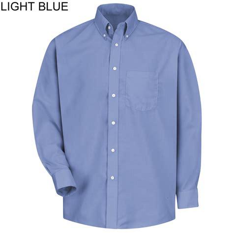 light blue button up shirt mens red kap ss36 men s mock oxford button down dress long