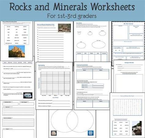 Rock Worksheet Answers by Rocks And Minerals Worksheets Mamas Learning Corner