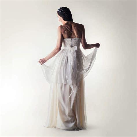 Layered Lace Dress lace silk layered wedding dress larimeloom handmade