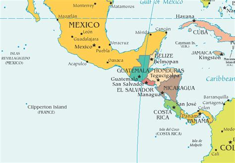 central america map images for reference