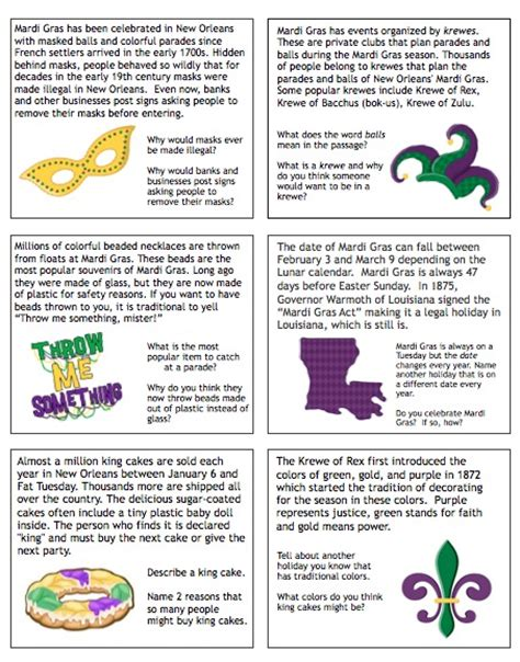 Mardi Gras Worksheets by Speech Language Literacy Llc Giveaway