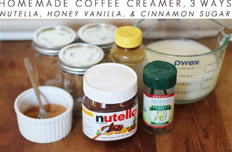 Bubby and Bean ::: Living Creatively: Homemade Coffee Creamer, 3 Ways