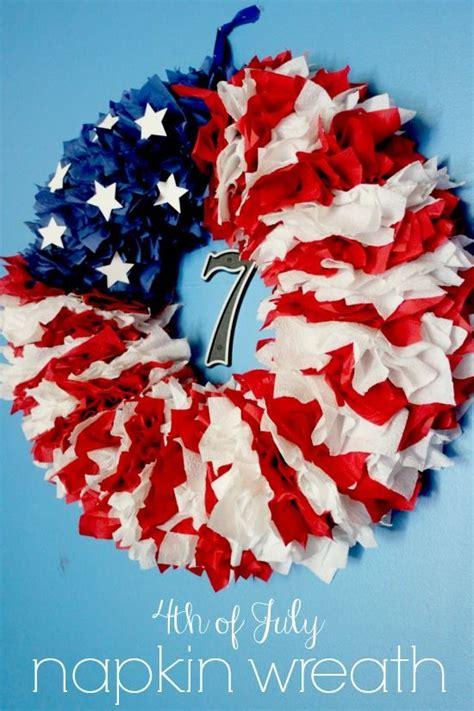 july napkin wreath delicate construction patriotic projects pinterest patriots