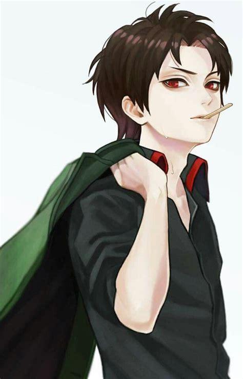 anime boy red eyes black hair red eyes bad boy anime boy pinterest