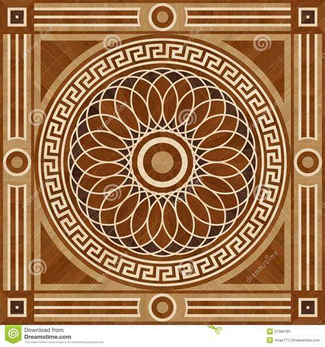Medallion Design Parquet Floor, Wooden Seamless Texture
