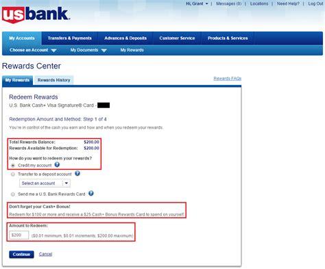 How To Redeem Visa Gift Card For Cash - redeem us bank cash plus cash cash back for statement credit 25 bonus