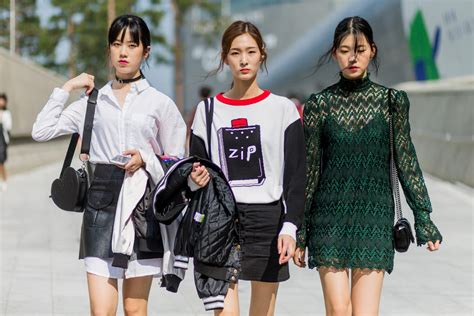 what is in style 2017 the best street style from seoul fashion week spring 2017