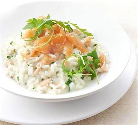 salmon and risotto smoked salmon lemon risotto recipe bbc good food