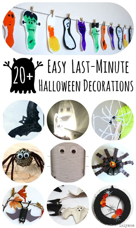 Home Made Halloween Decoration last minute easy diy halloween decorations lalymom