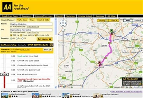 aa route map uk aa route planner chrome web store