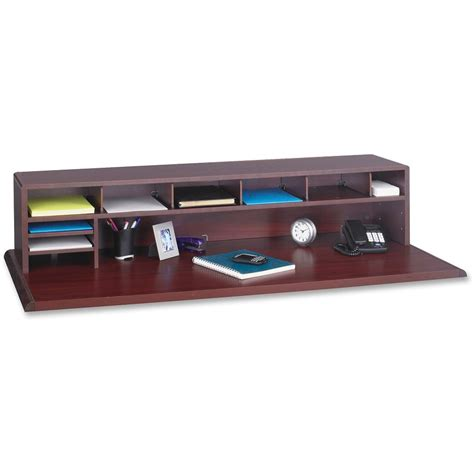 desk top organizer hutch safco low profile desktop organizer