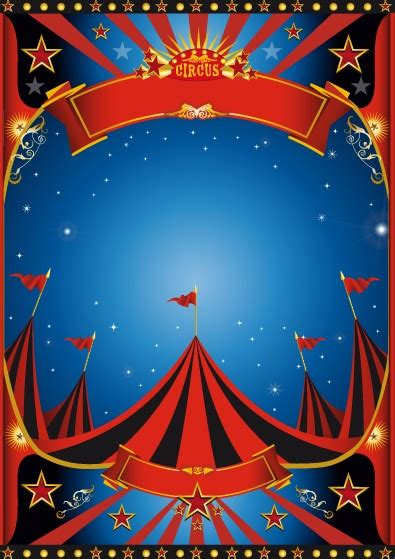 carnival posters template vintage style circus poster design vector 01 vector