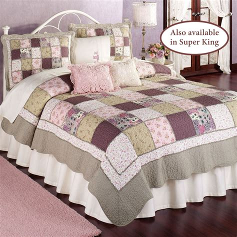 Patchwork Quilts - sugarplum cotton floral patchwork quilts
