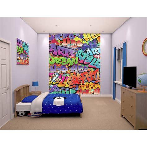 cr馥r chambre 3d buy walltastic graffitti wallpaper mural at argos co uk