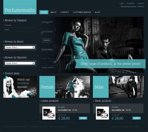 portfolio layout maken webshop webdesign perfumemaite connexx webdesignbureau