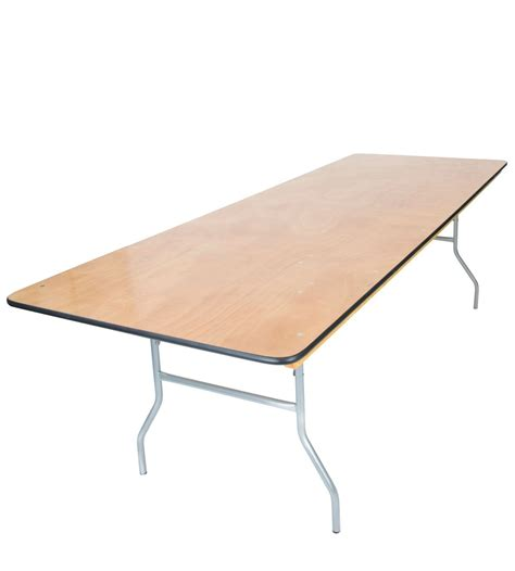 folding 8 table 8 x36 wood folding wide banquet table with vinyl edge