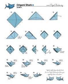 Origami Shark Diagram - paper sharks pattern b origami shark folding diagram and