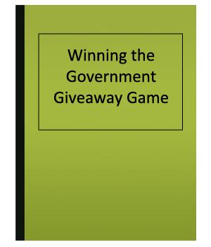 Free Money Giveaways - winning the governement giveaway game free money giveaways publications eden press