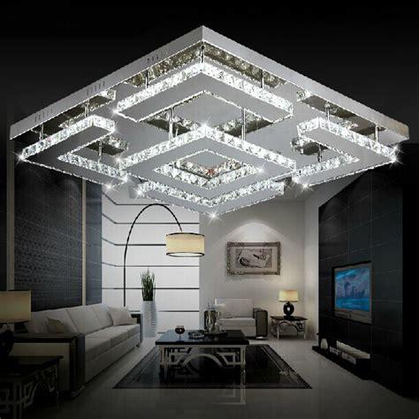wohnzimmer luster gro 223 e platz design moderne led kristall deckenleuchte f 252 r