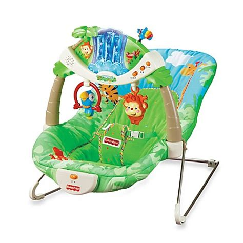 baby swing rainforest fisher price 174 rain forest bouncer bed bath beyond