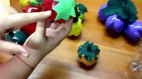 frutas con material reciclaje frutas hechas de botellas pet youtube