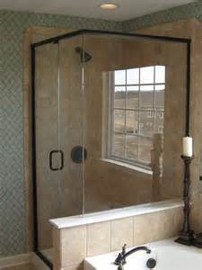 trim of rubbed bronze shower door