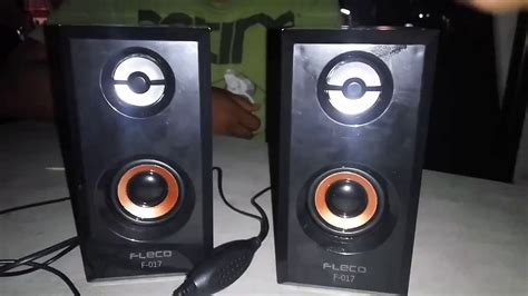Speaker Usb F 017 fleco speaker pc mini usb 2 0 wooden f 017 coklat