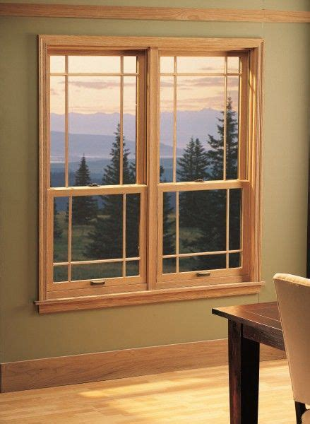 wood interior double hung windows  modified prairie