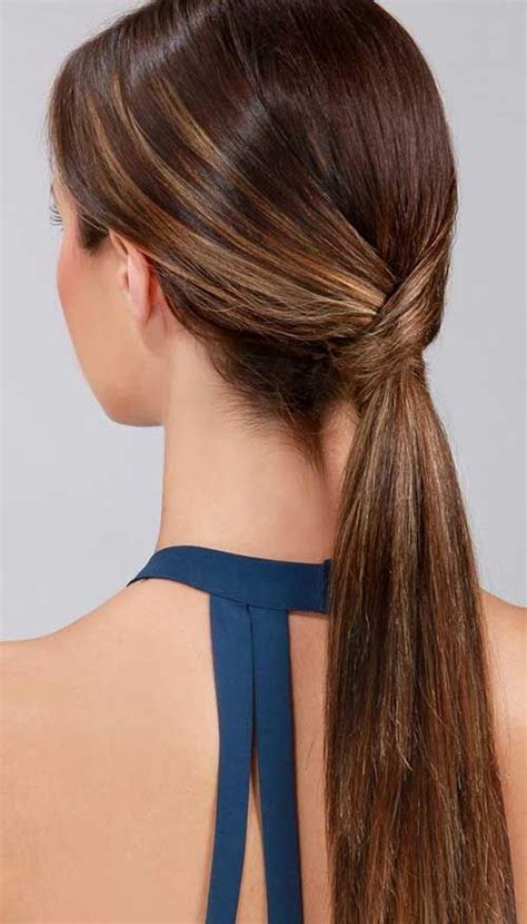 how to seeo pony tail with crown height how to wear your long hair for an interview hair world