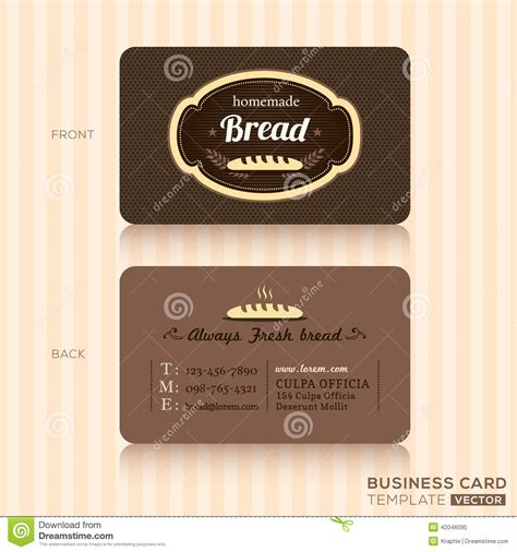 business card bakery templates vintage business card for bakery shop stock vector