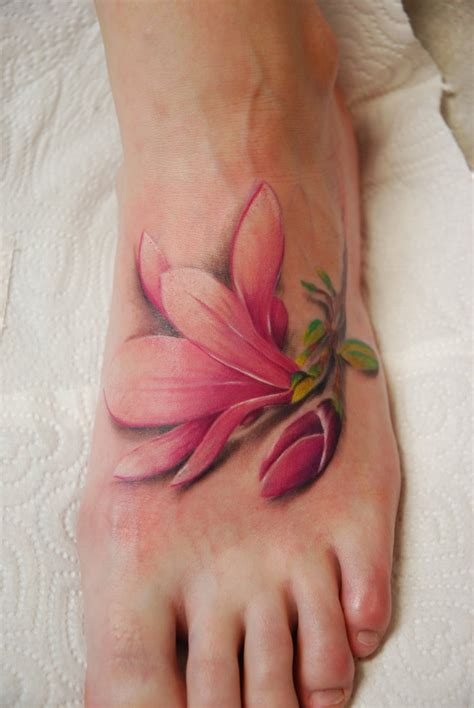 flower ankle tattoos flowers by larvart on deviantart