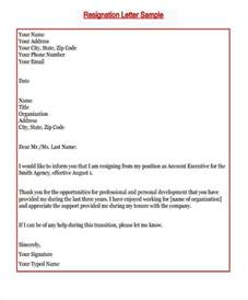Resignation Letter Sle No Growth New Resignation Letter Template 7 Free Word Pdf Format Free Premium Templates