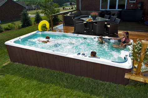swim spa backyard designs swim spas