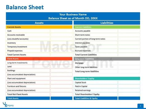 Financial Statement Editable Powerpoint Template Accounting Pinterest Financial Financial Report Powerpoint Presentation Template