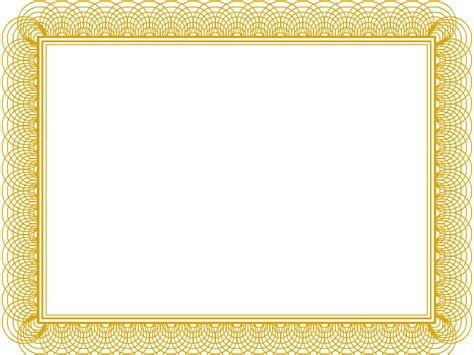 border certificate template best photos of gold certificate templates gold award