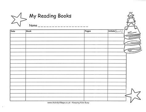 14 best images of reading log worksheets reading log