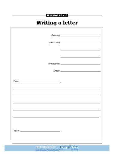 writing a letter free primary ks1 teaching resource