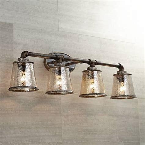 fillmore 31 3 4 quot wide industrial rust bathroom light